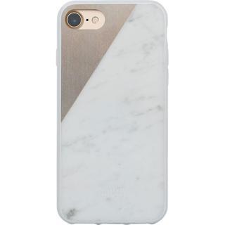 Husa Capac spate Marble Alb Apple iPhone 7