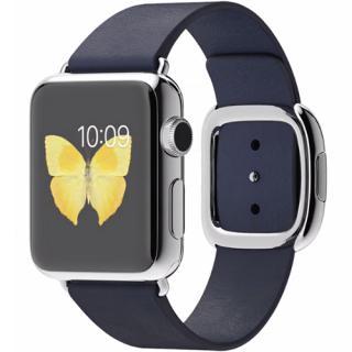 APPLE Smartwatch 38 MM Carcasa din Otel Inoxidabil si Curea Modern Albastra S MJ332LL