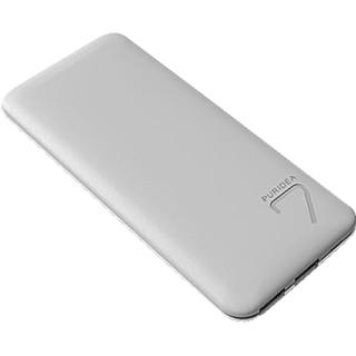Baterie Externa S5 7000mAh Doua Porturi USB Alb Gri thumbnail