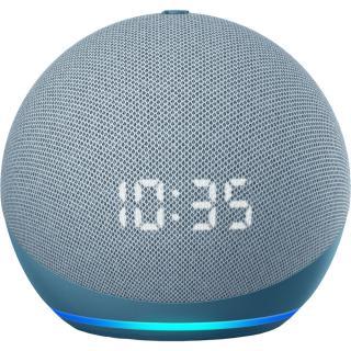 Boxa Portabila Echo Dot 4 Cu Ceas si Asistent Personal Alexa Twilight Blue Albastru