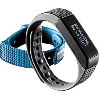 Bratara Fitness Waterproof Albastru Cu Bluetooth + Bratara Neagra