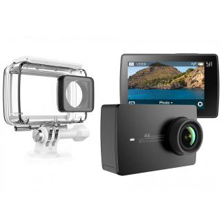 Camera Y2 4k Action   Husa 360 Waterproof Si Kit Utilizare