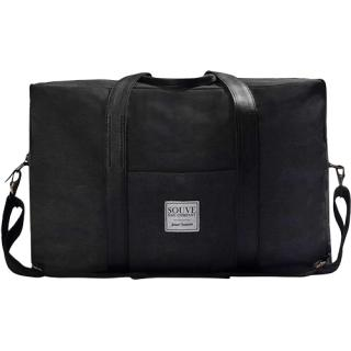 Canvas Travel Bag Negru
