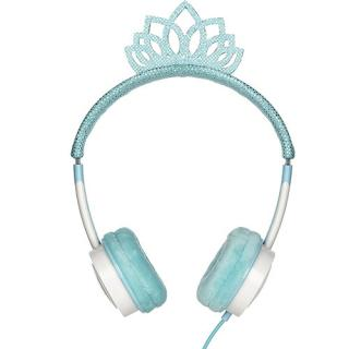 Casti Audio On Ear Little Rockers Princess Tiara Ice Albastru