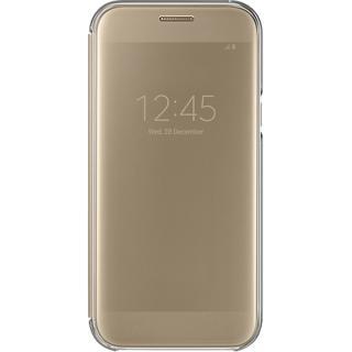 Husa Agenda Clear View Auriu Samsung Galaxy A5 2017