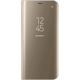 Husa Agenda Clear View Auriu Samsung Galaxy S8