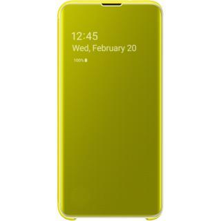 "<font color=""FF00CC"">Promotie!</font> Husa Agenda Clear View Galben SAMSUNG Galaxy S10E thumbnail"