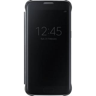 Husa Agenda Clear View Negru Samsung Galaxy S7