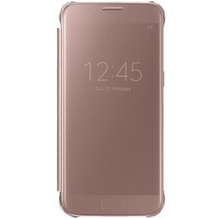 Husa Agenda Clear View Roz Samsung Galaxy S7