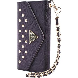 Husa Agenda Clutch Studded Negru Apple Iphone 5s