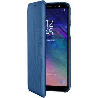 husa agenda flip wallet albastru samsung galaxy a6 plus (2018)