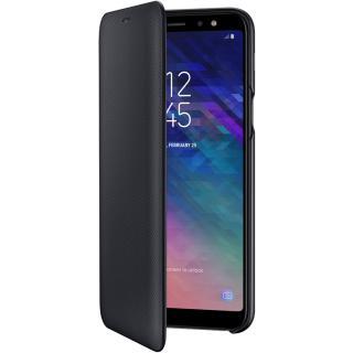 "<font color=""FF00CC"">Promotie!</font> Husa Agenda Flip Wallet Negru SAMSUNG Galaxy A6 Plus (2018) thumbnail"