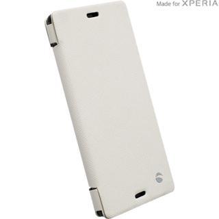 Husa Agenda Malmo Stand Mfx Alb Sony Xperia Z3