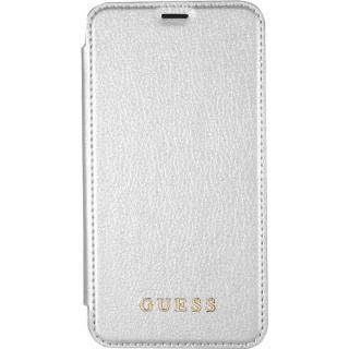 Husa Agenda Piele Argintiu APPLE iPhone X