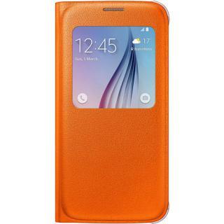 Husa Agenda S View Portocaliu Samsung Galaxy S6
