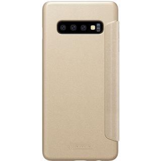 """<font color=""""FF00CC"""">Promotie!</font> Husa Agenda Sparkle Piele Auriu SAMSUNG Galaxy S10 Plus thumbnail"""