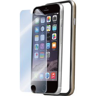 Husa Bumper  Folie Transparenta Auriu Apple Iphone