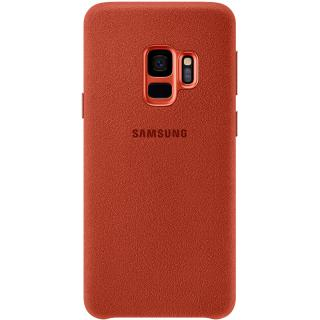 "<font color=""FF00CC"">Promotie!</font> Husa Capac Spate Alcantara Rosu SAMSUNG Galaxy S9 thumbnail"
