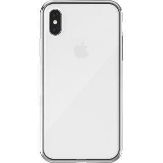 husa capac spate argintiu apple iphone x