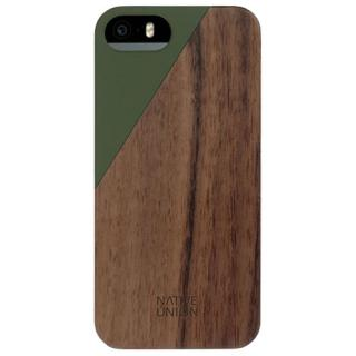 Husa capac spate clic luxury olive walnut apple iphone 5s