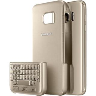 Husa Capac Spate Cu Tastatura Auriu Samsung Galaxy