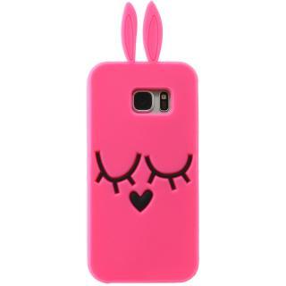 Husa Capac Spate Ears Roz Samsung Galaxy S6