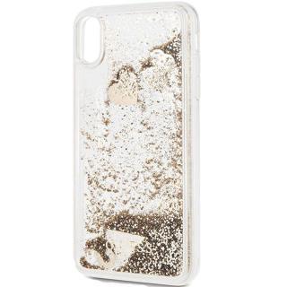 Husa Capac Spate Glitter Hearts Auriu APPLE iPhone Xs Max