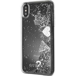 Husa Capac Spate Glitter Hearts Transparent APPLE iPhone Xs Max