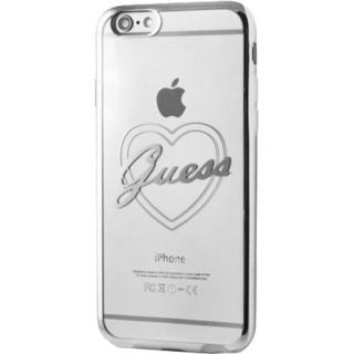 Husa Capac Spate Heart Argintiu Apple Iphone 6  Ip