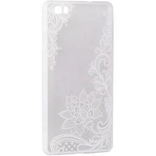 Husa Capac Spate Lace Design 4 Alb Huawei P8 Lite