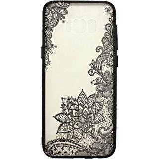 Husa Capac Spate Lace Design 4 Negru Huawei P8 Lit