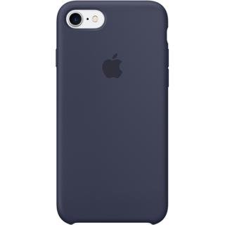 """<font color=""""FF00CC"""">Promotie!</font> Husa Capac Spate Midnight Silicon Albastru Apple iPhone 7, iPhone 8 thumbnail"""