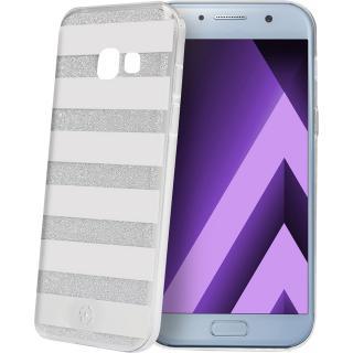 Husa Capac Spate Stripes Argintiu Samsung Galaxy A