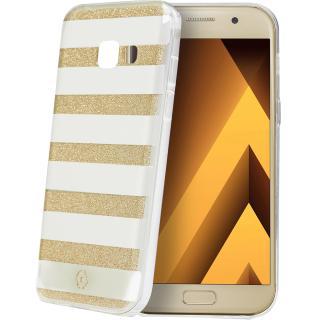 Husa Capac Spate Stripes Auriu Samsung Galaxy A5 2