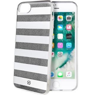 Husa Capac Spate Stripes Negru Apple Iphone 7