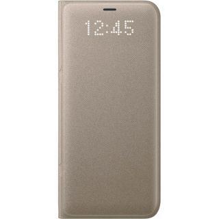 Husa Agenda Led View Auriu Samsung Galaxy S8
