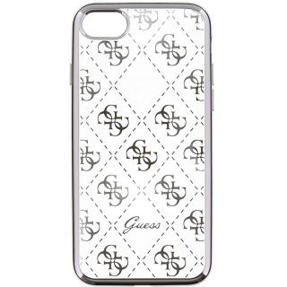 Husa Capac Spate Transparent Argintiu Apple Iphone