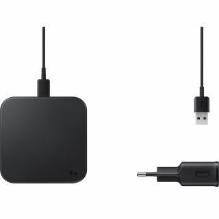 Incarcator Wireless Charger Pad 9W cu adaptor si cablu Type-C inclus
