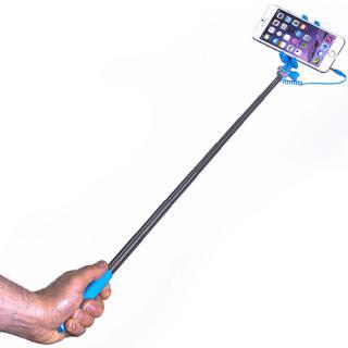 Mini Selfie Stick Extensibil Wired Albastru