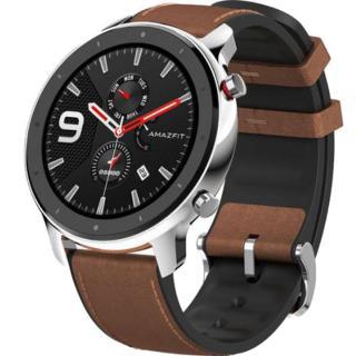 "<font color=""FF00CC"">Promotie!</font> Smartwatch Amazfit GTR 47MM Carcasa Aluminiu si Curea Maro thumbnail"