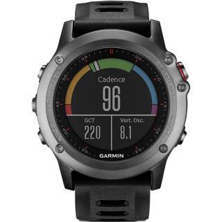 Smartwatch Fenix 3 Multisport GPS HR Bundle Curea Silicon Negru