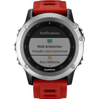 Smartwatch Fenix 3 Multisport HR GPS Curea Piele Rosie
