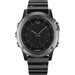 Smartwatch Fenix 3 Sapphire GPS HR Curea Metal + Curea Silicon Negru