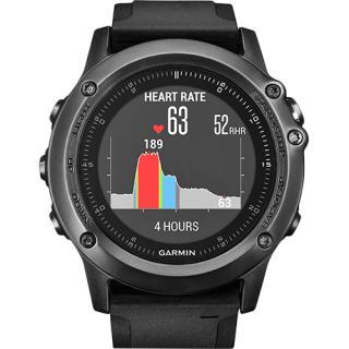 Smartwatch Fenix 3 Sapphire HR Curea Silicon Negru