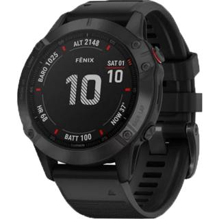 """<font color=""""FF00CC"""">Promotie!</font> Smartwatch Fenix 6 Pro Negru Si Curea Neagra thumbnail"""