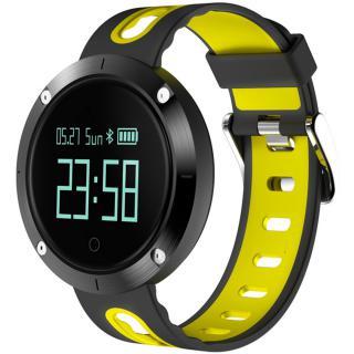 Smartwatch Monitorizare Tensiune Ip68 Galben Negru