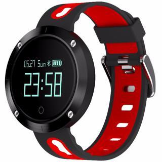 Smartwatch Monitorizare Tensiune Ip68 Rosu Negru