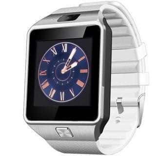 "<font color=""FF00CC"">Promotie!</font> Smartwatch Rush Argintiu Si Curea Silicon Alba Cu SIM thumbnail"