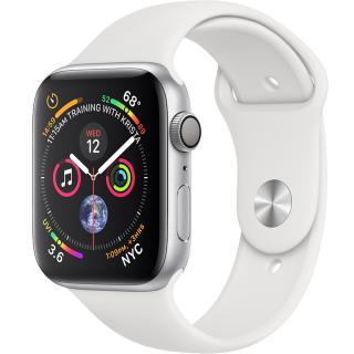 "<font color=""FF00CC"">Promotie!</font> Smartwatch Watch 4 GPS 44MM Aluminiu Argintiu Si Curea Sport Alb thumbnail"