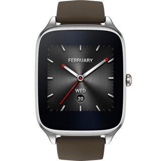 Smartwatch ZenWatch 2 49MM Argintiu Si Curea Silicon Maro